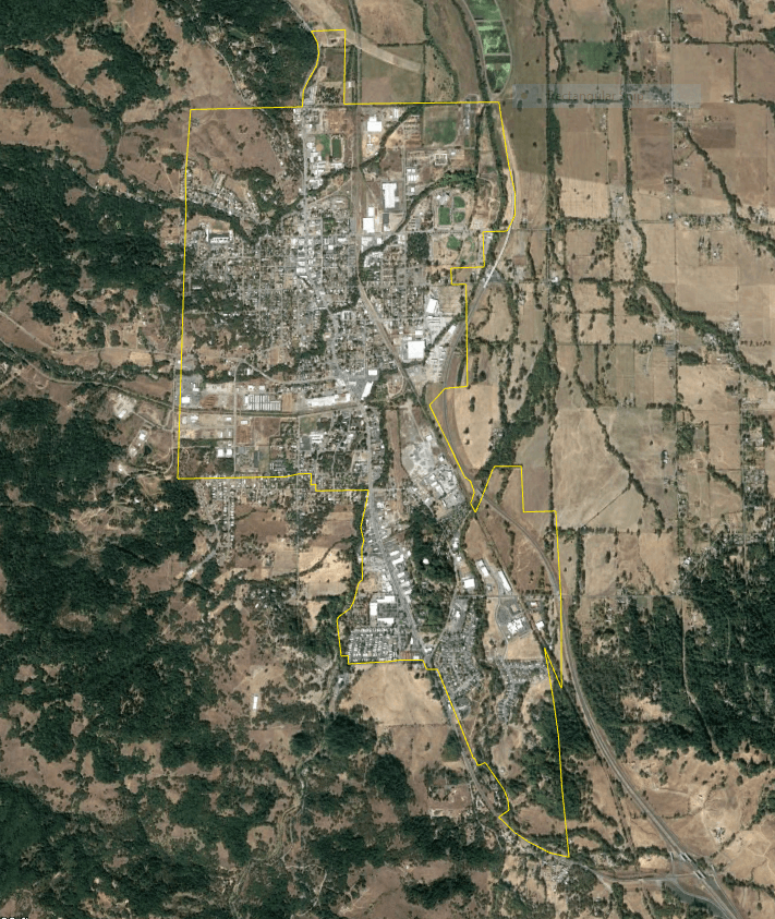 Willits from Space